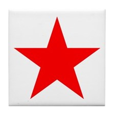 Red Star Tile Coaster