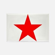 Red Star Rectangle Magnet (10 pack)