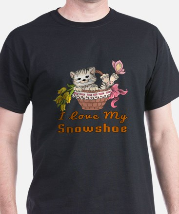 I Love My Snowshoe Designs T-Shirt