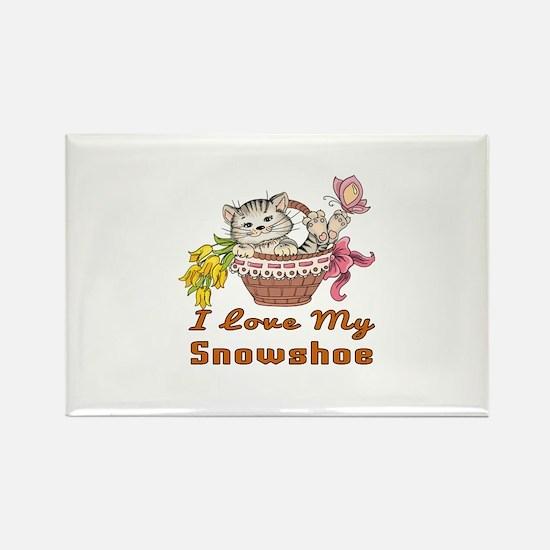I Love My Snowshoe Desi Rectangle Magnet (10 pack)