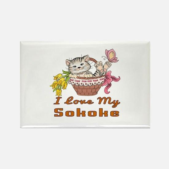 I Love My Sokoke Designs Rectangle Magnet