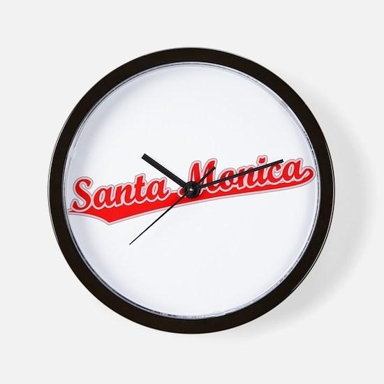 Retro Santa Monica (Red) Wall Clock