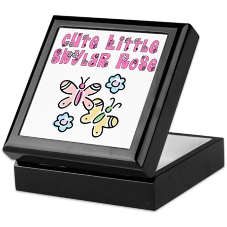 Cute Little Skylar Rose Keepsake Box