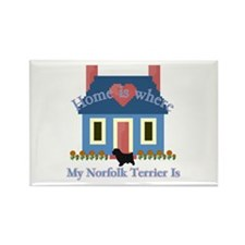 Norfolk Terrier Home Rectangle Magnet (100 pack)