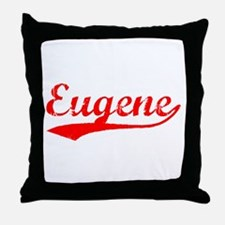 Vintage Eugene (Red) Throw Pillow