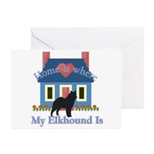 Elkhound Home Is Greeting Cards (Pk of 20)
