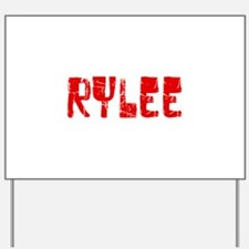Rylee Faded (Red) Yard Sign