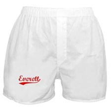 Vintage Everett (Red) Boxer Shorts