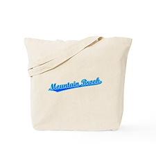Retro Mountain Brook (Blue) Tote Bag