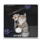 Bouce Out Cat Tile Coaster