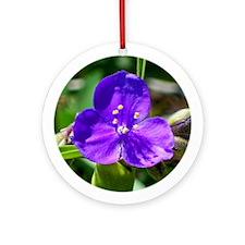 Purple Blossom 2 Ornament (Round)