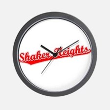 Retro Shaker Heights (Red) Wall Clock