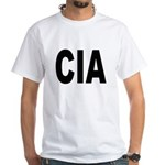 CIA Central Intelligency Agency (Front) White T-Sh