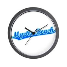 Retro Myrtle Beach (Blue) Wall Clock