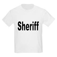Sheriff (Front) Kids T-Shirt