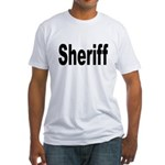 Sheriff (Front) Fitted T-Shirt