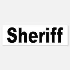 Sheriff Bumper Bumper Bumper Sticker