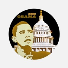 "Obama/Capitol 3.5"" Button (100 pack)"