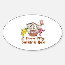 I Love My Selkirk Rex Designs Sticker (Oval)
