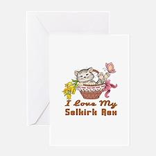 I Love My Selkirk Rex Designs Greeting Card