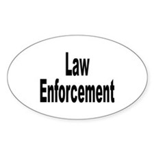 Law Enforcement Oval Decal