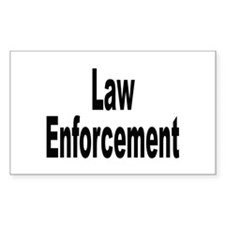 Law Enforcement Rectangle Decal