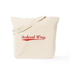 Vintage Federal Way (Red) Tote Bag