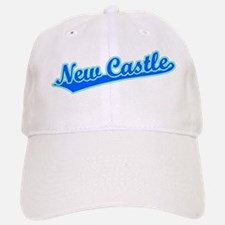 Retro New Castle (Blue) Baseball Baseball Cap