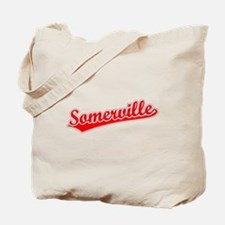Retro Somerville (Red) Tote Bag