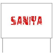 Saniya Faded (Red) Yard Sign