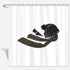 ColdSteampunkAviatorKit050110.png Shower Curtain