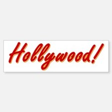 Hollywood! souvenir Bumper Bumper Sticker