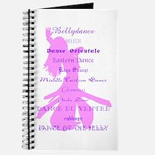 Names of Bellydance pink & pu Journal