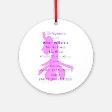 Names of Bellydance pink & pu Keepsake (Round)