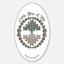 Celtic Tree of Life Oval Decal