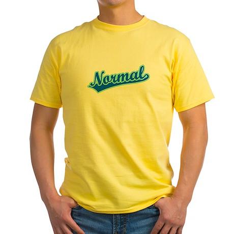 Retro Normal (Blue) Yellow T-Shirt