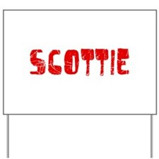 Scottie Faded (Red) Yard Sign