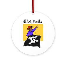 Stitch Pirate - Sewing Crafts Ornament (Round)