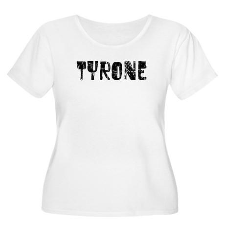 Tyrone Faded (Black) Women's Plus Size Scoop Neck