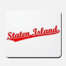 Retro Staten Island (Red) Mousepad