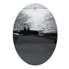 Cute Honeymoon Oval Ornament