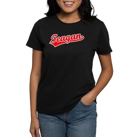 Retro Teagan (Red) Women's Dark T-Shirt