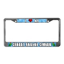 Love Cherry Headed Conure License Plate Frame
