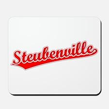 Retro Steubenville (Red) Mousepad