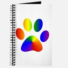 Rainbow Gay Pride Dog Paw Journal
