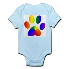 Rainbow Gay Pride Dog Paw Infant Creeper