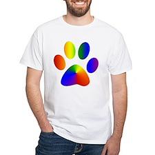 Rainbow Gay Pride Dog Paw Shirt