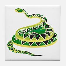 Green Snake Tile Coaster