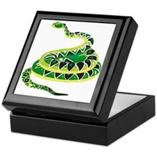 Green Snake Keepsake Box