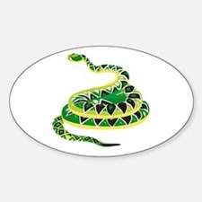 Green Snake Oval Decal
